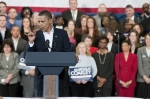 President Obama speaks at a Martha Coakley event, held at Northeastern University, two days before the special election for a new U.S. Senator representing the Commonwealth of Massachusetts.