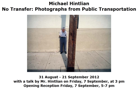 Upcoming Exhibition by Documentary Instructor, Michael Hintlian