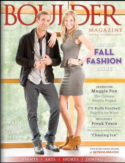 Dana Tarr featured in Boulder Magazine Fall Fashion Issue