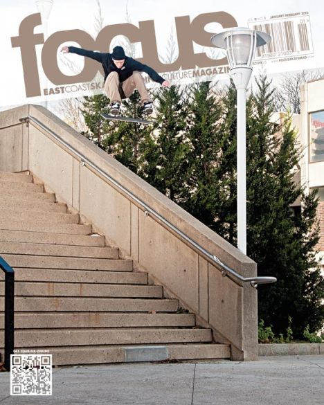 NESOP Student Rob Collins Lands Cover of Focus Skateboard Magazine